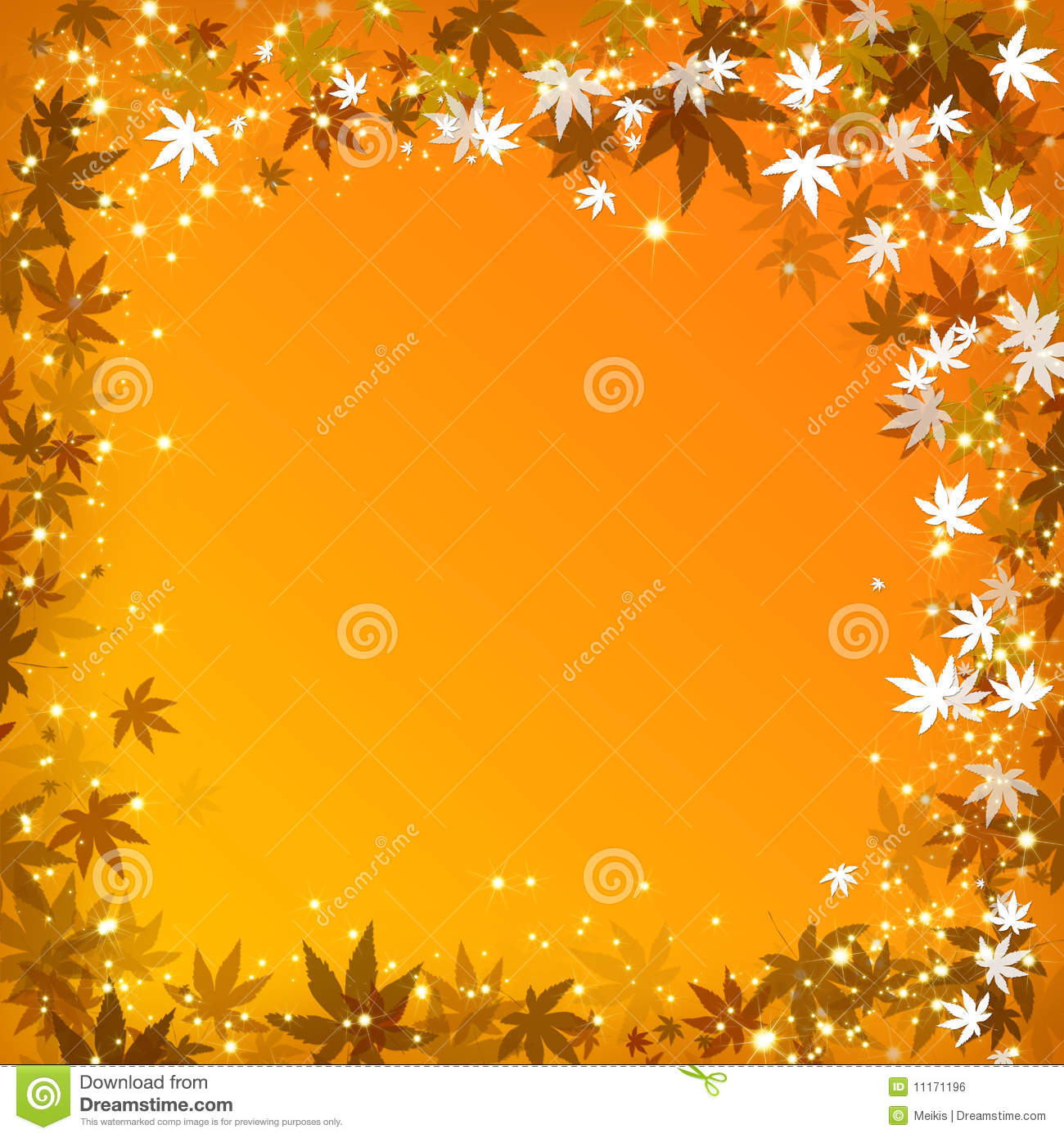 Maple Leaf Wallpaper For Fall Season Abstract Autumn Leaves Golden Background Royalty Free