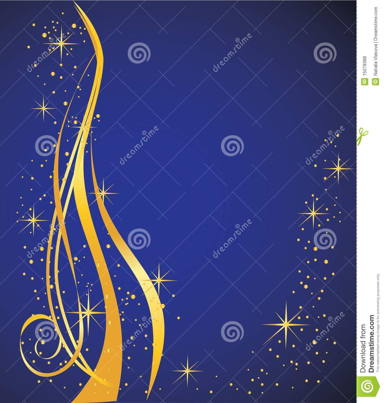 Abstract background blue and gold royalty free stock