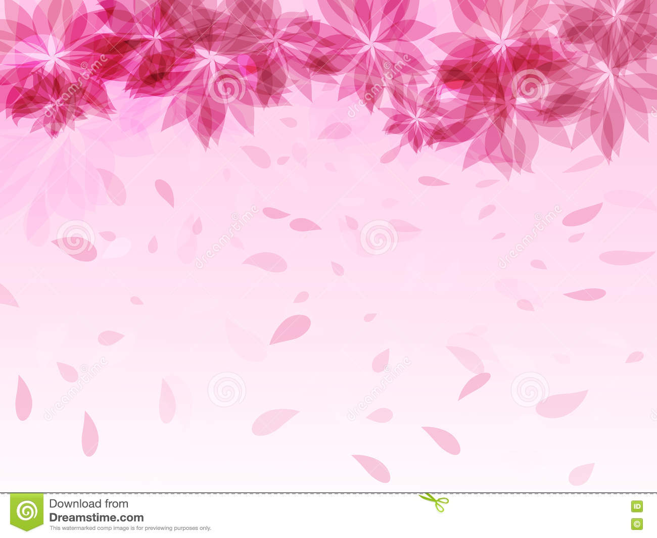 Hd Girl Wallpaper Print Abstract Background With Pink Flowers And Falling Petals