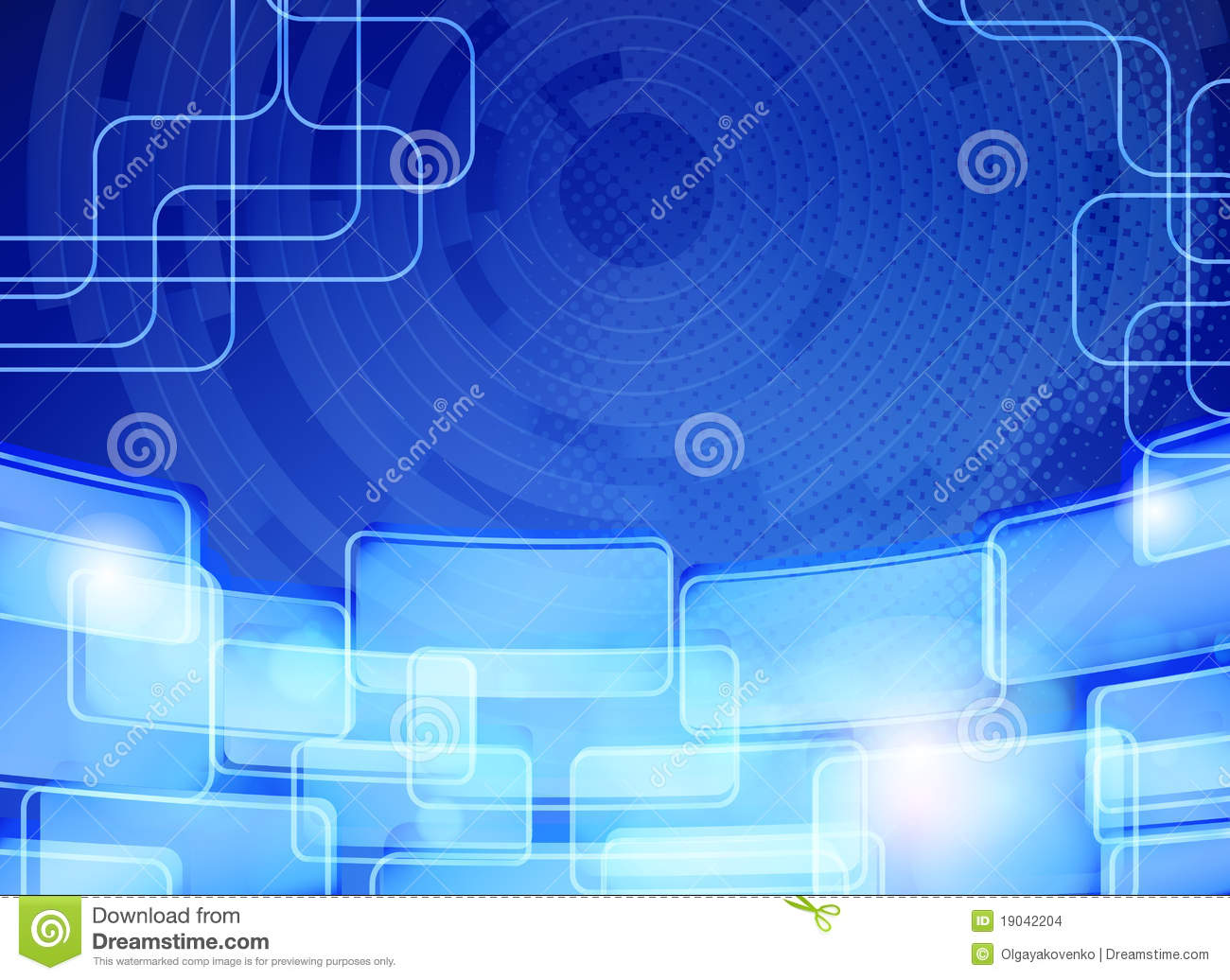Wallpaper Teknologi 3d Abstract Blue Techno Background Card Design Stock Images
