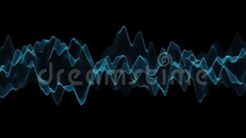 Abstract Blue Wave Motion With Black BackgroundAbstract Line And