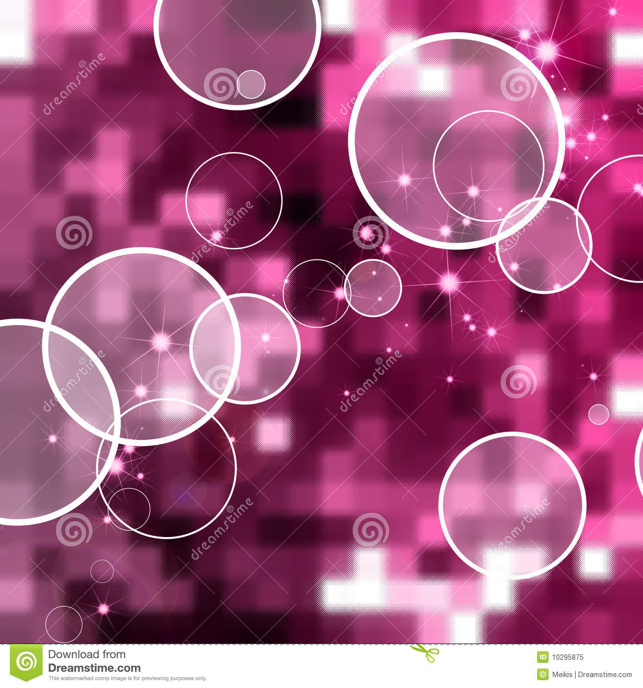 Red Star 3d Wallpaper Abstract Circle Pink Background Royalty Free Stock Photo