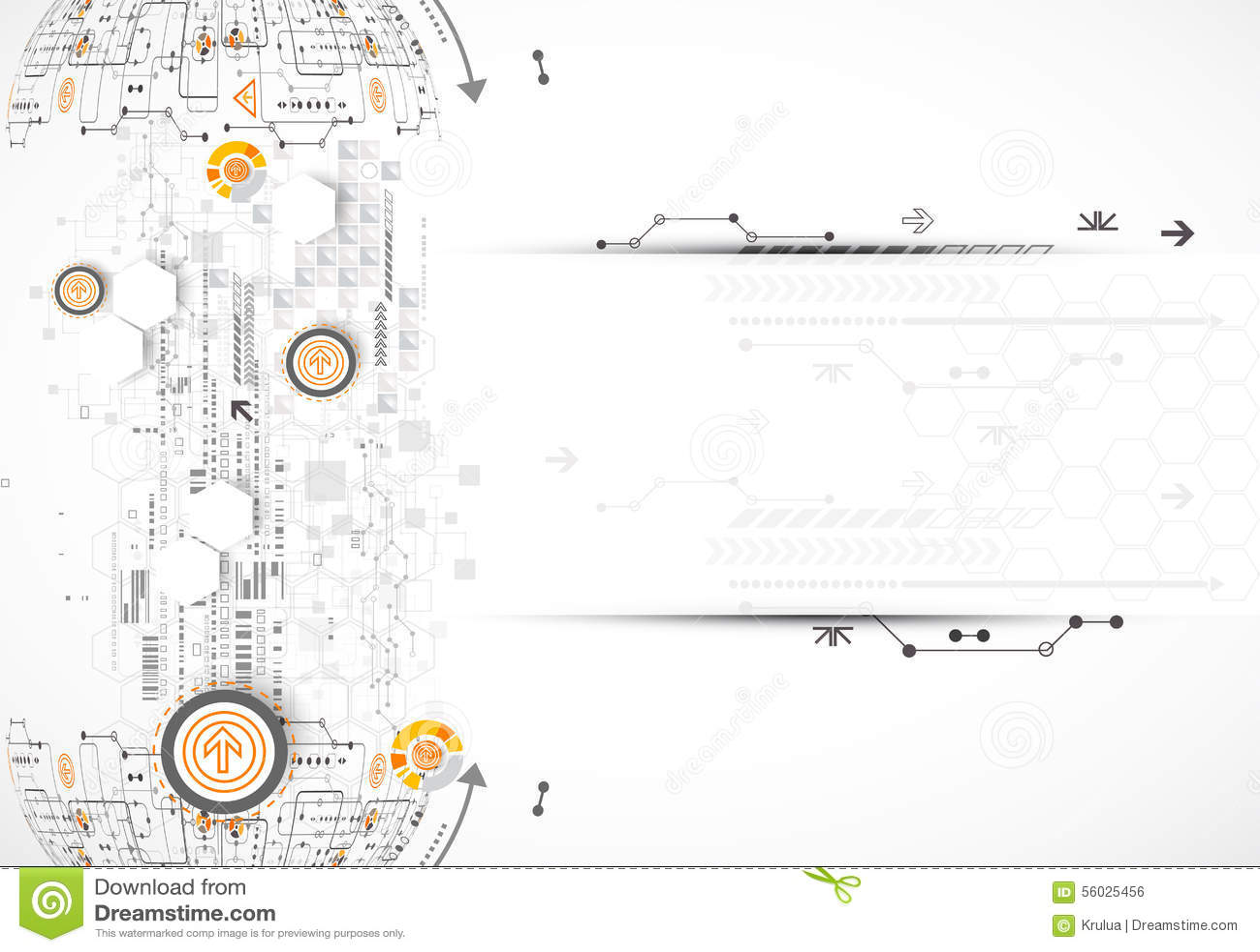 circuit board sphere stock vector