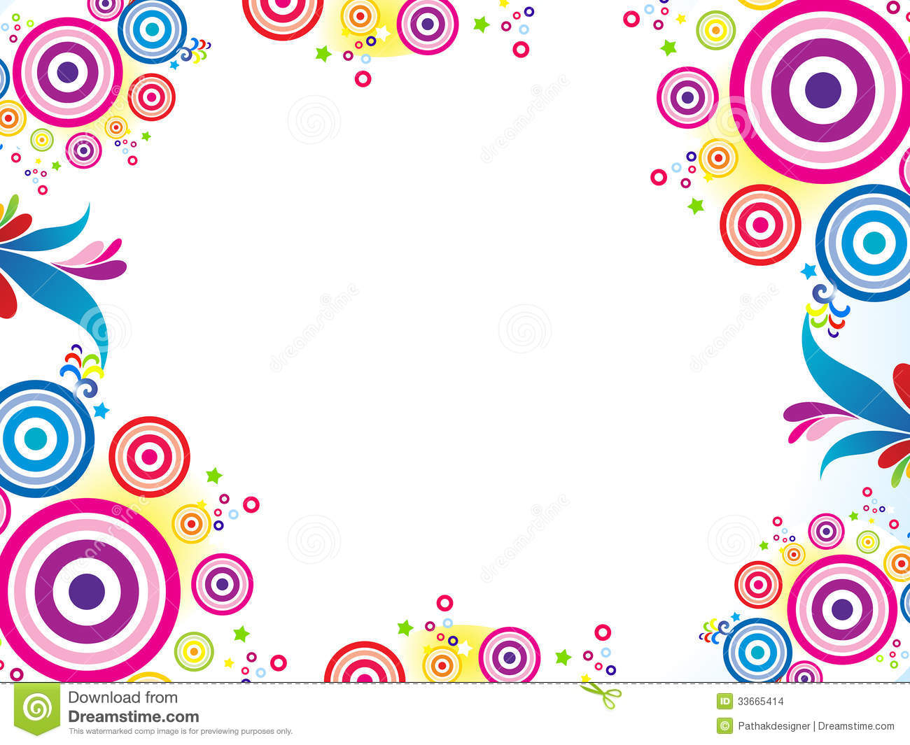 Pink Girl Cartoon Wallpaper Abstract Colorful Circle Background Stock Vector