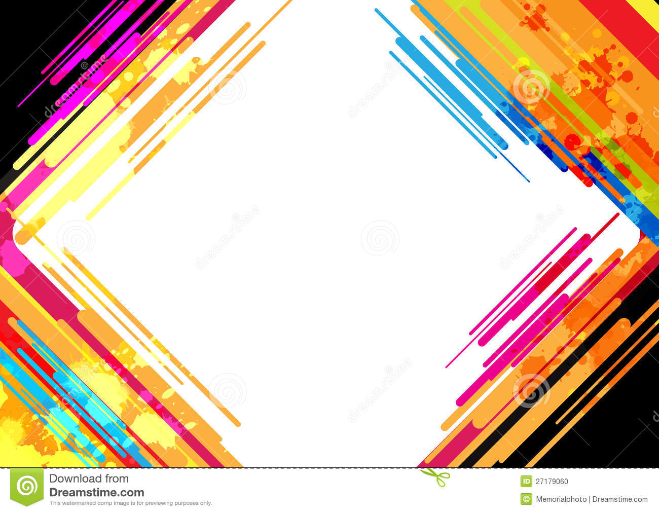 Simple Wallpapers Colors Fall Abstract Colorful Frame Design Stock Vector Illustration