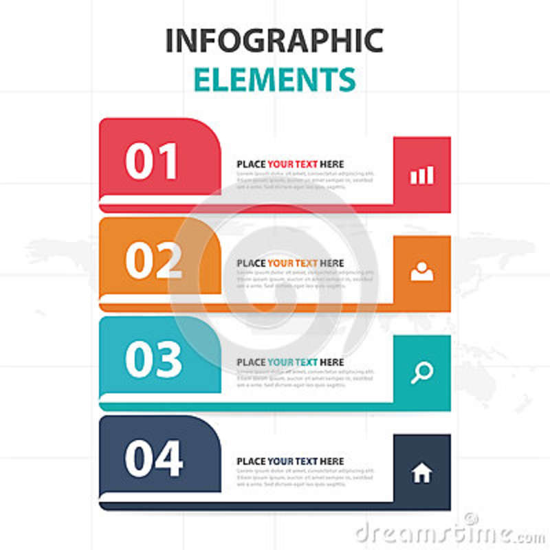 Abstract Colorful Label Business Timeline Infographics Elements