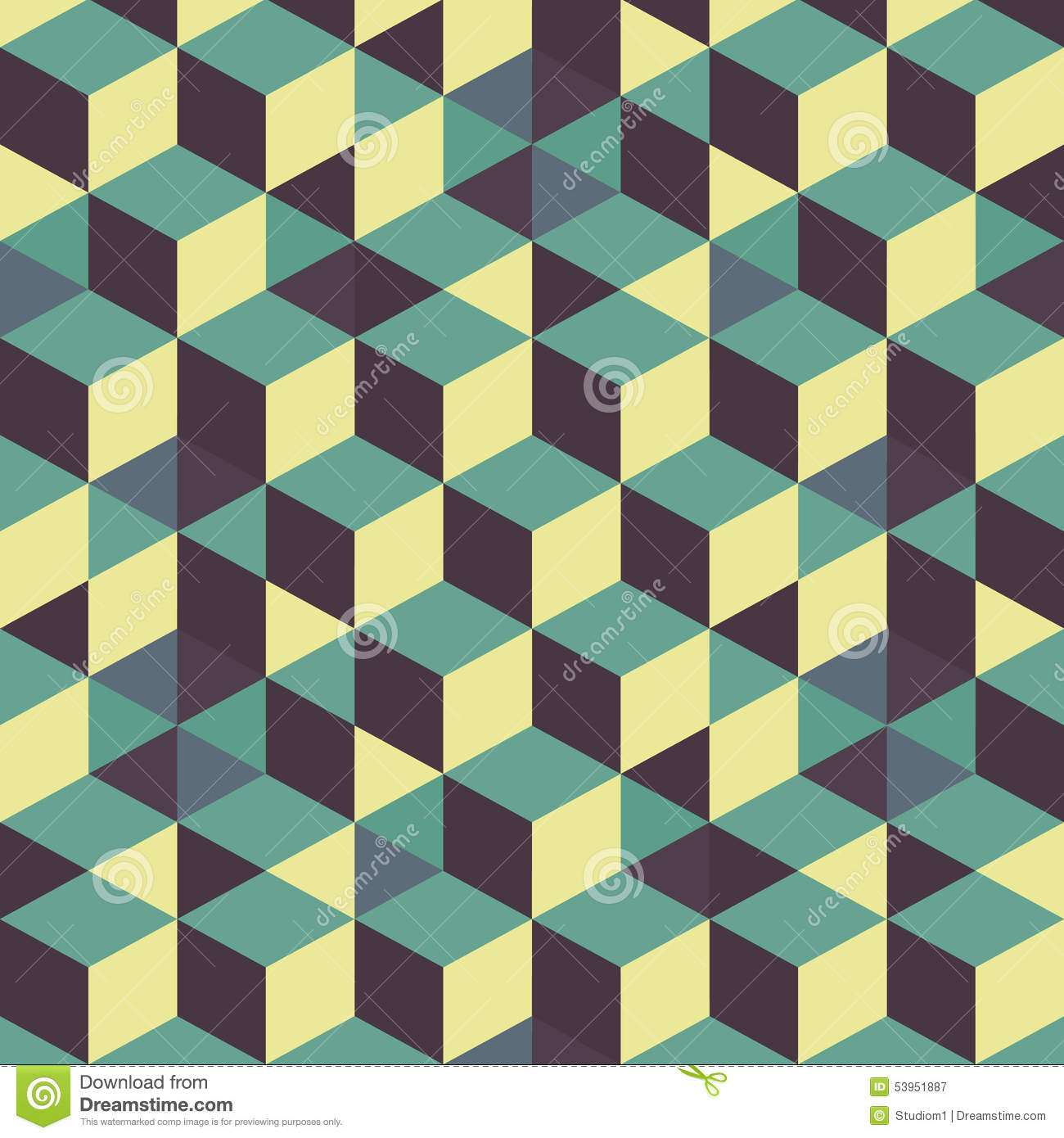 3d Tile Effect Wallpaper Abstract 3d Background Wall Of Cubes Vector Stock