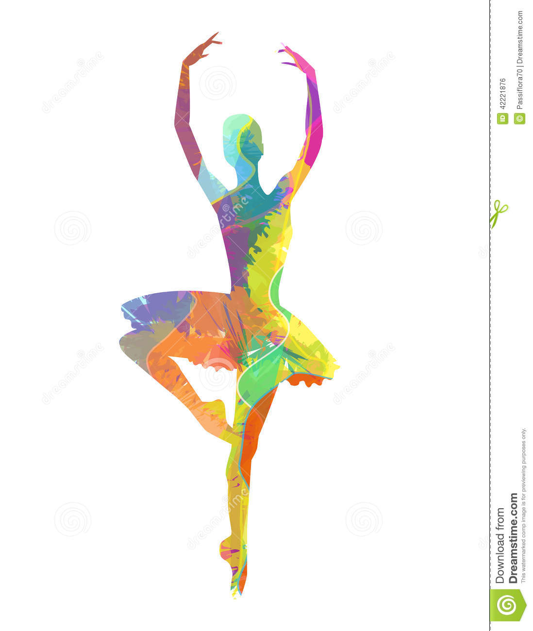 Abstract Painting Of Girl Dancing Abstract Dancing Girl Stock Vector Image 42221876