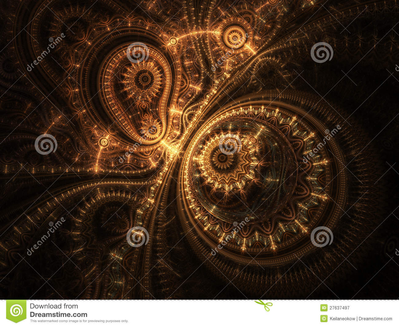 3d Digital Clock Wallpaper Abstract Design Of Steampunk Watch Royalty Free Stock