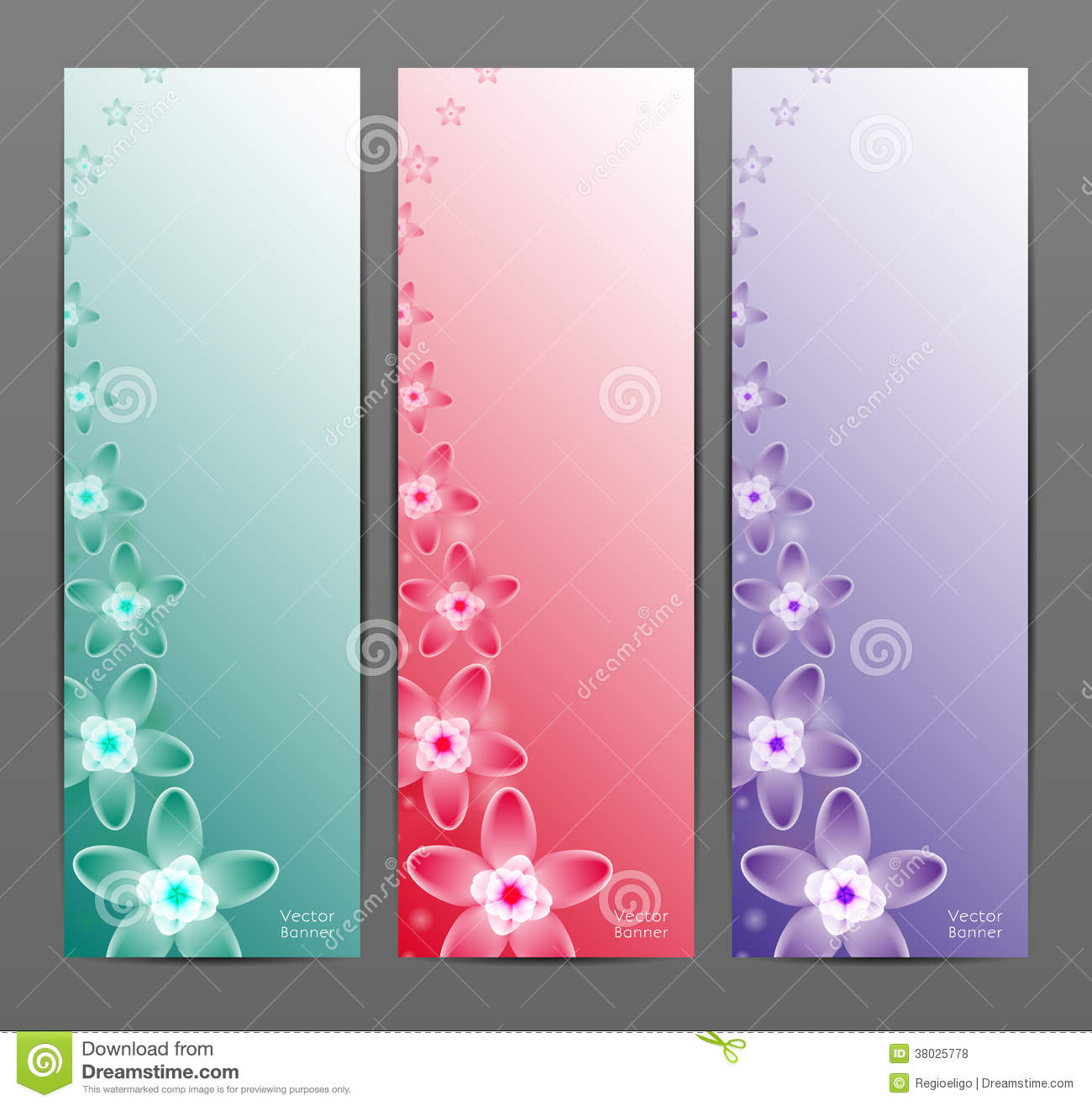 Cute Circle Wallpaper Abstract Flower Vector Background Brochure Template