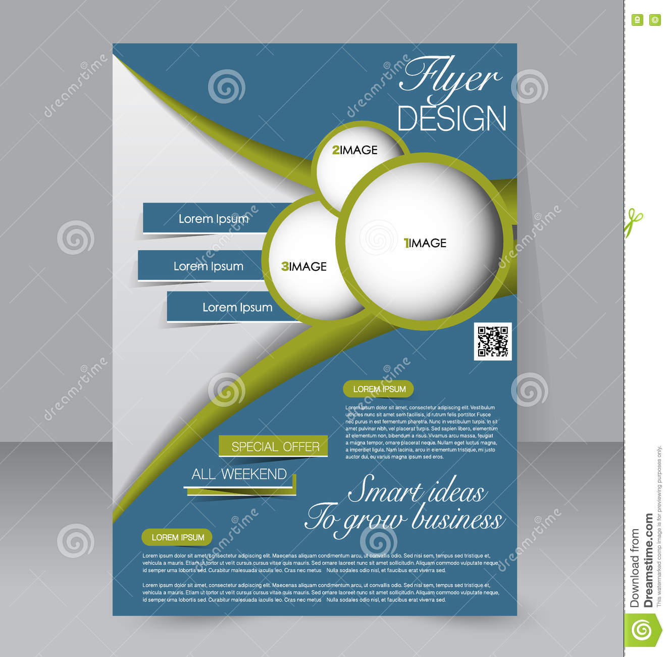 Flyer Ideas Abstract Flyer Design Background Brochure Template Stock Vector