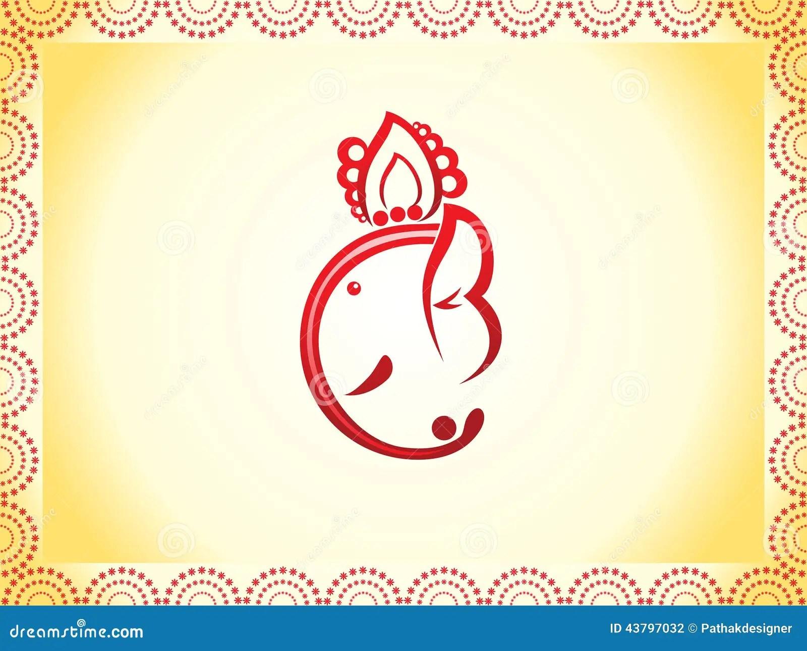 Vinayaka Chavithi Hd Wallpapers Abstract Ganesha Chaturthi Background Stock Vector