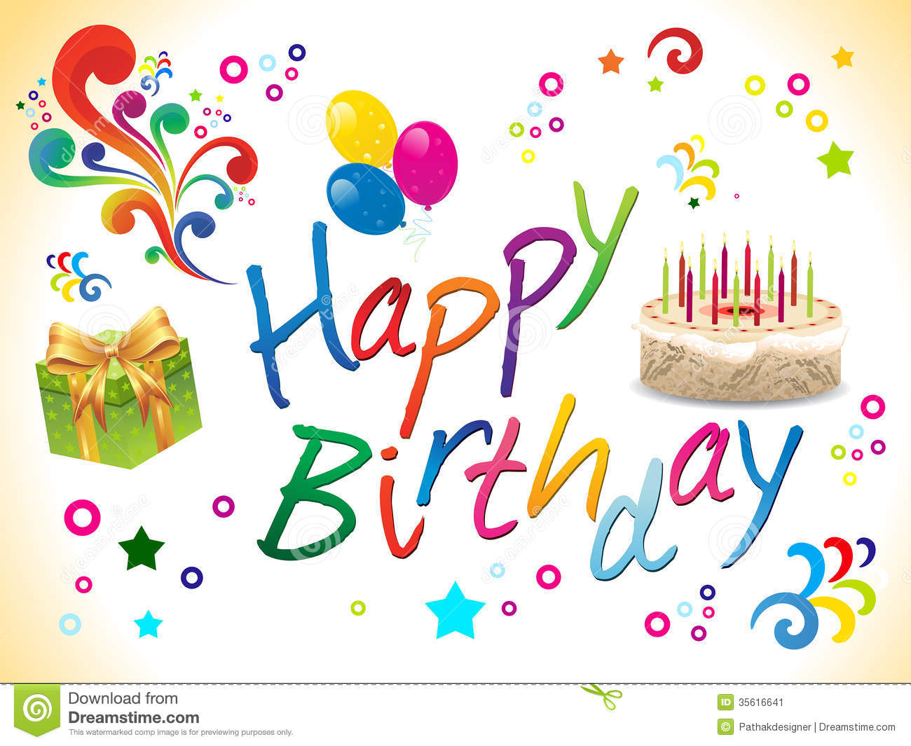 Carte Cadeau Wish Abstract Happy Birthday Background Stock Image Image