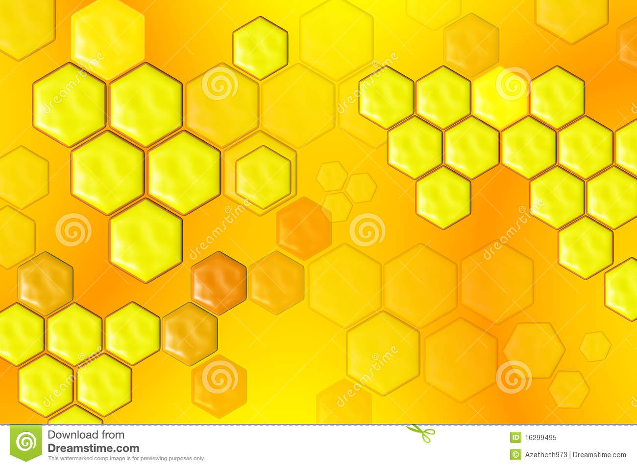 3d Tile Wallpaper Abstract Honeycomb Composition Royalty Free Stock Photo