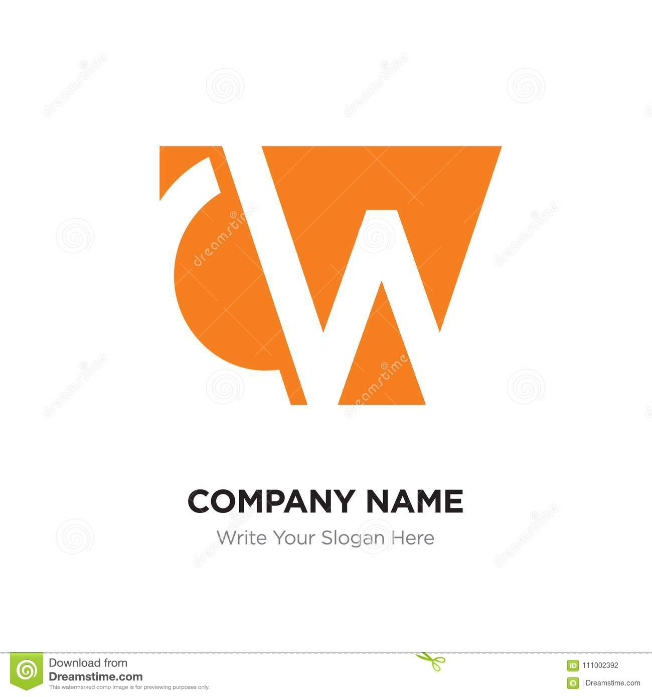 Connect Wc Abstract Letter Cw Wc Logo Design Template Orange Alphabet