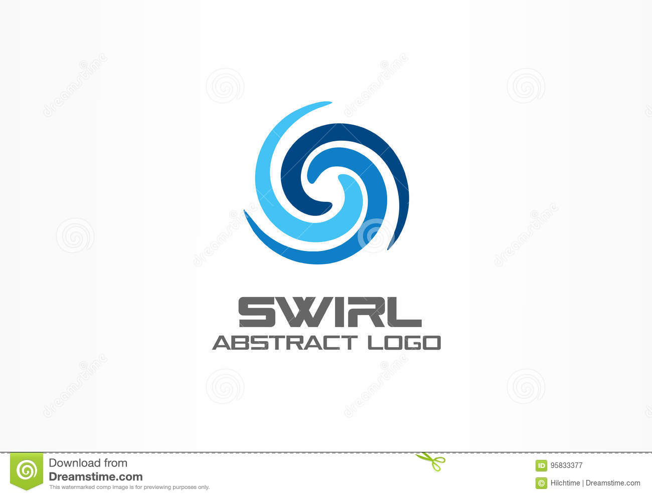 Aqua Whirlpools Abstract Logo For Business Company Eco Nature Whirlpool Spa