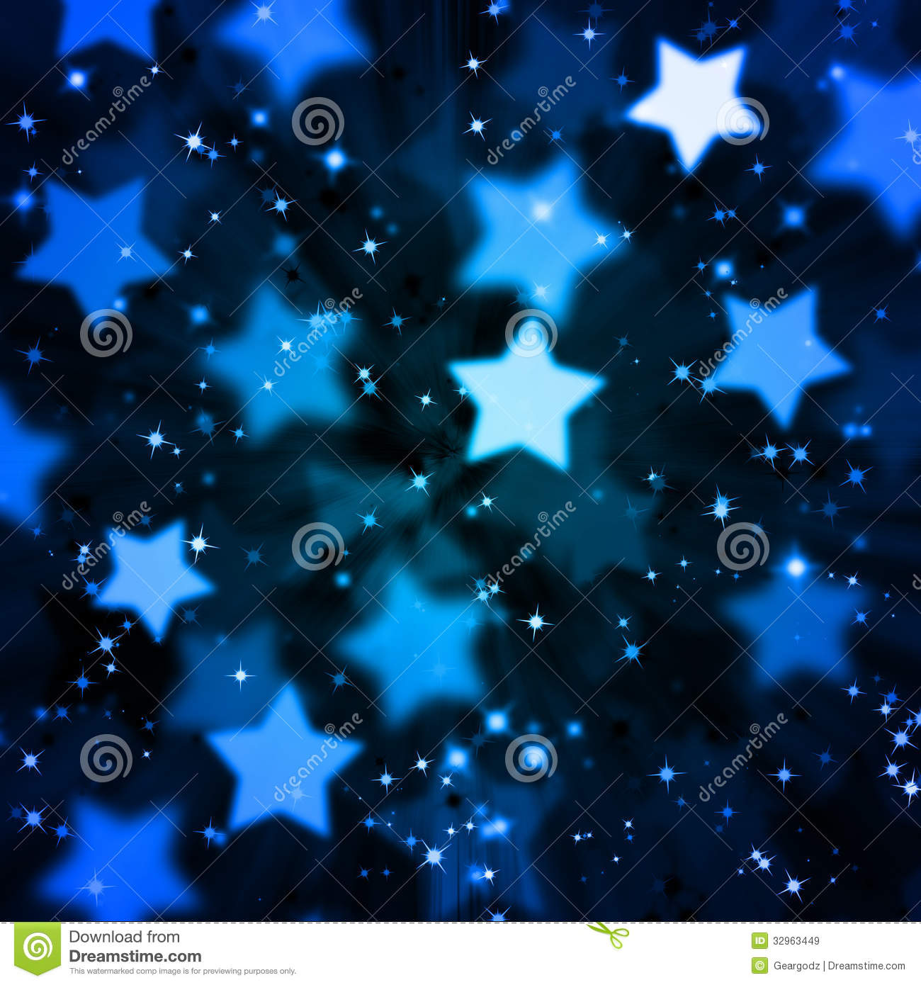 Falling Stars Live Wallpaper Abstract Magic Star Background Stock Illustration