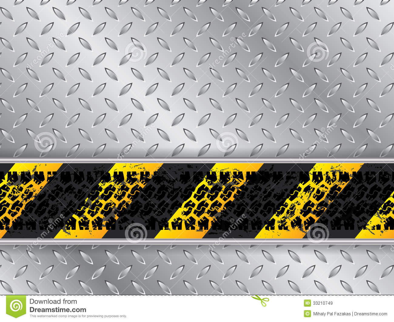 Danger 3d Wallpaper Download Abstract Metallic Background With Tire Track Royalty Free