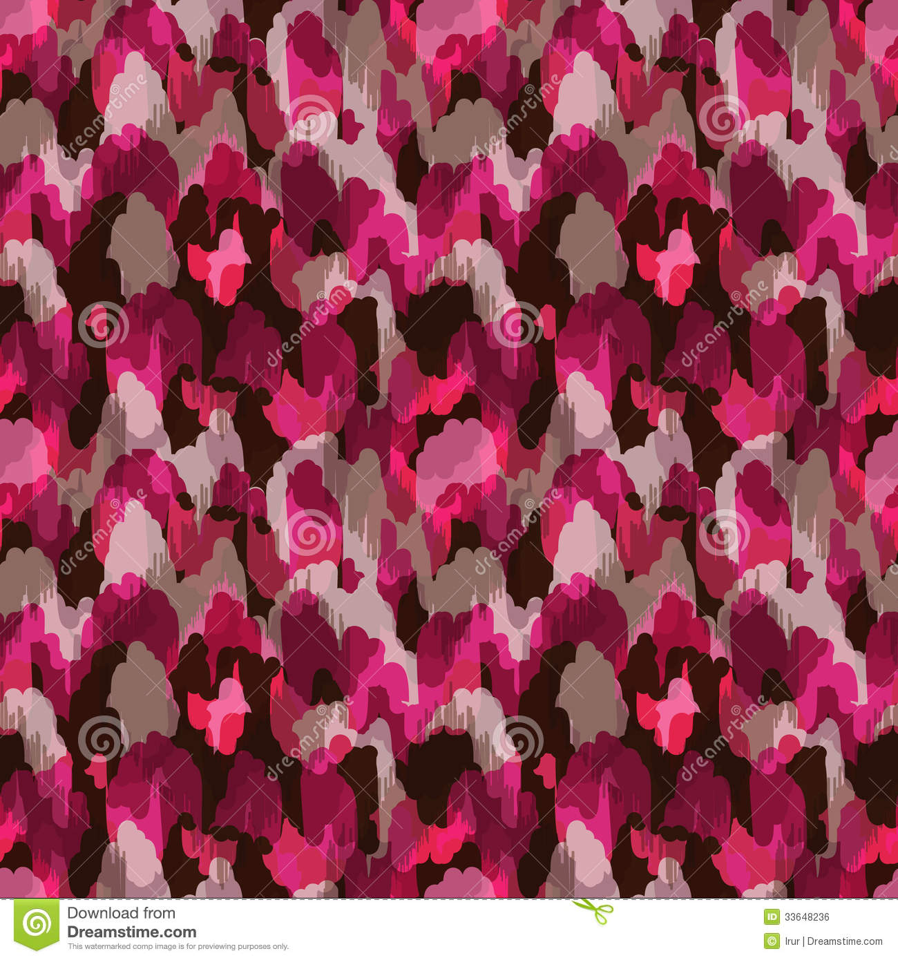Cute Tribal Print Wallpaper Abstract Modern Bright Pink Seamless Web Or Fabric Royalty