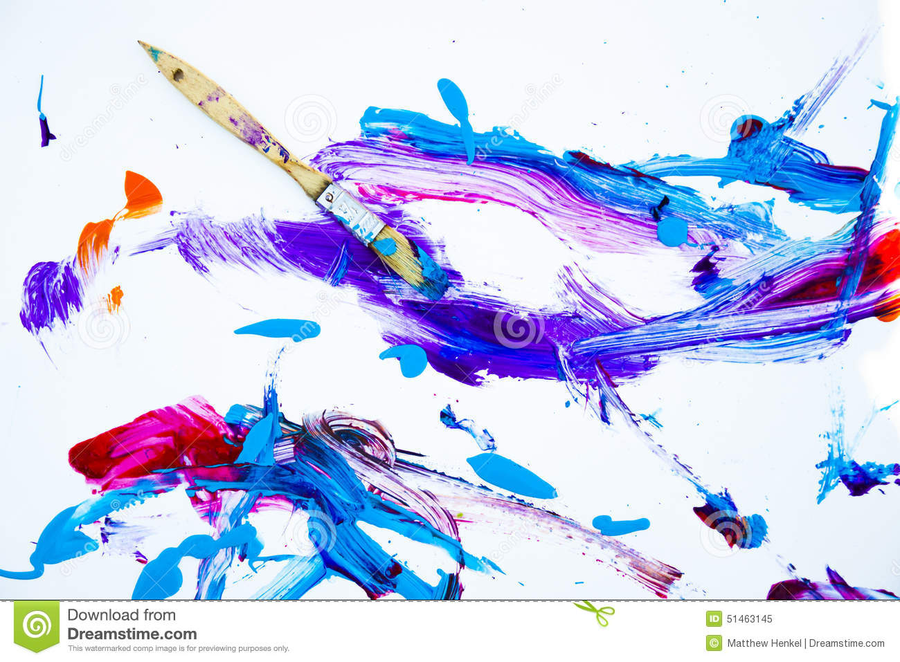 Malerpinsel Clipart Abstract Paint And Paintbrush Stock Photo Image 51463145