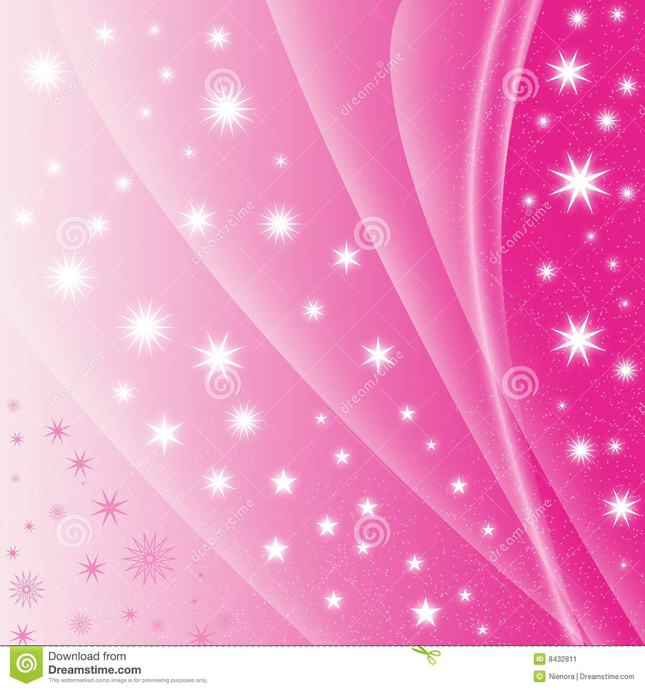 Purple Falling Circles Wallpaper Abstract Pink Star Background Stock Illustration