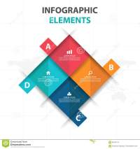 Abstract 4 Square Business Infographics Elements ...