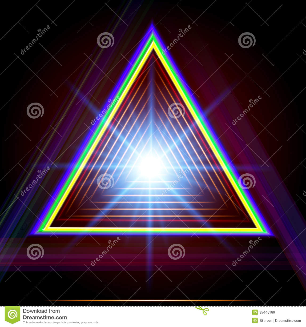 Matrix 3d Wallpaper Free Download Abstract Triangle Techno Background Stock Photo Image