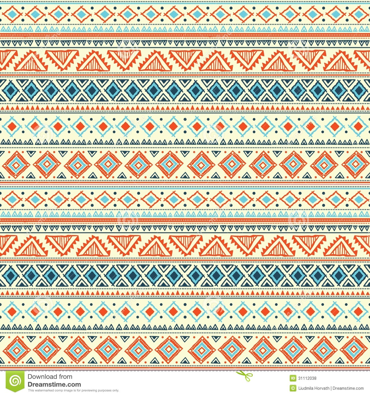 Cute Tribal Print Wallpaper Abstract Tribal Pattern Stock Vector Illustration Of