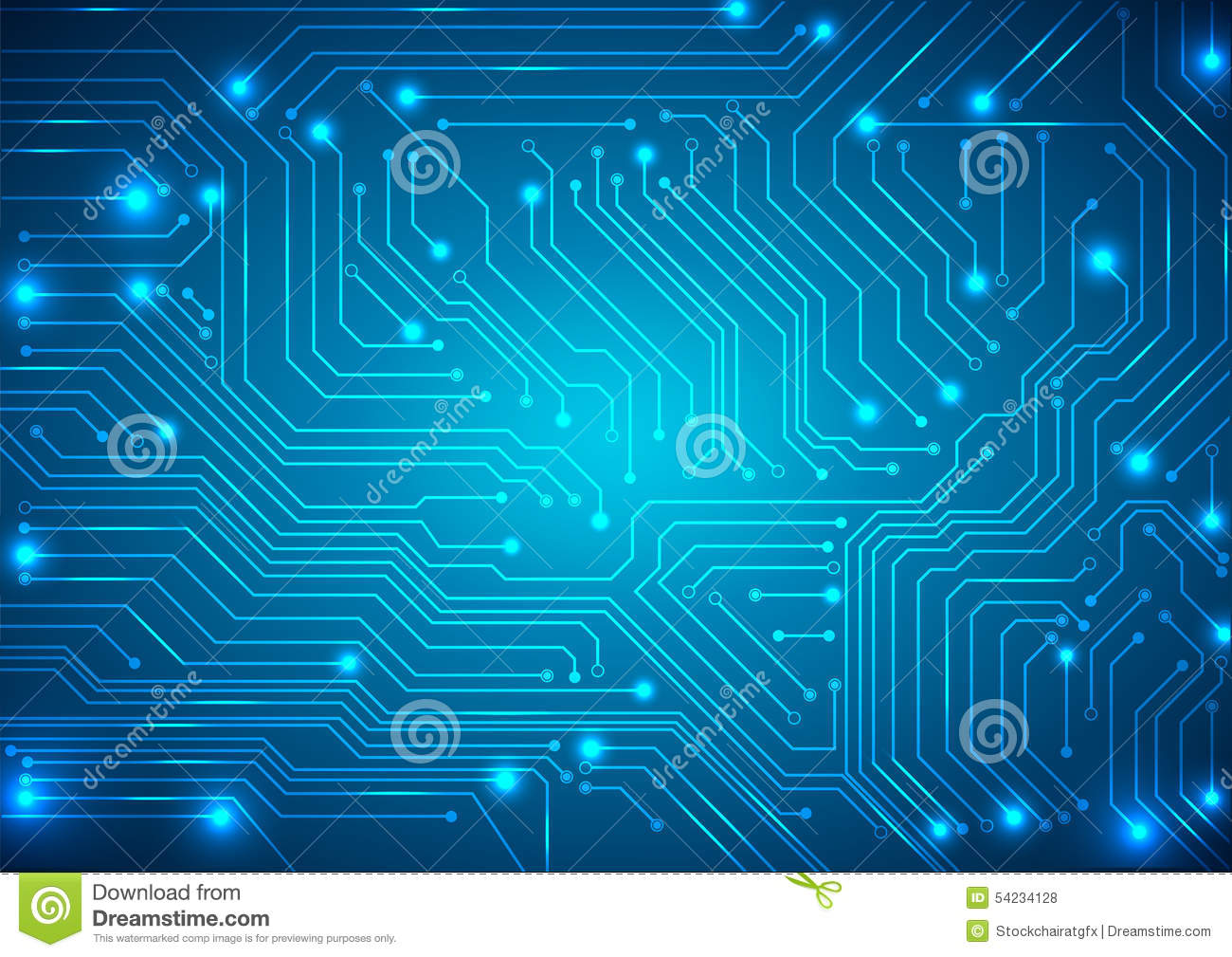 Motherboard Wallpaper 3d Abstract Vector Background With High Tech Circuit Board