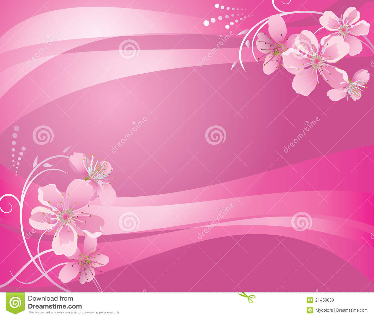 Breast Cancer 3d Wallpaper For Pc Abstract Vector Pink Background With Flower Stock Vector