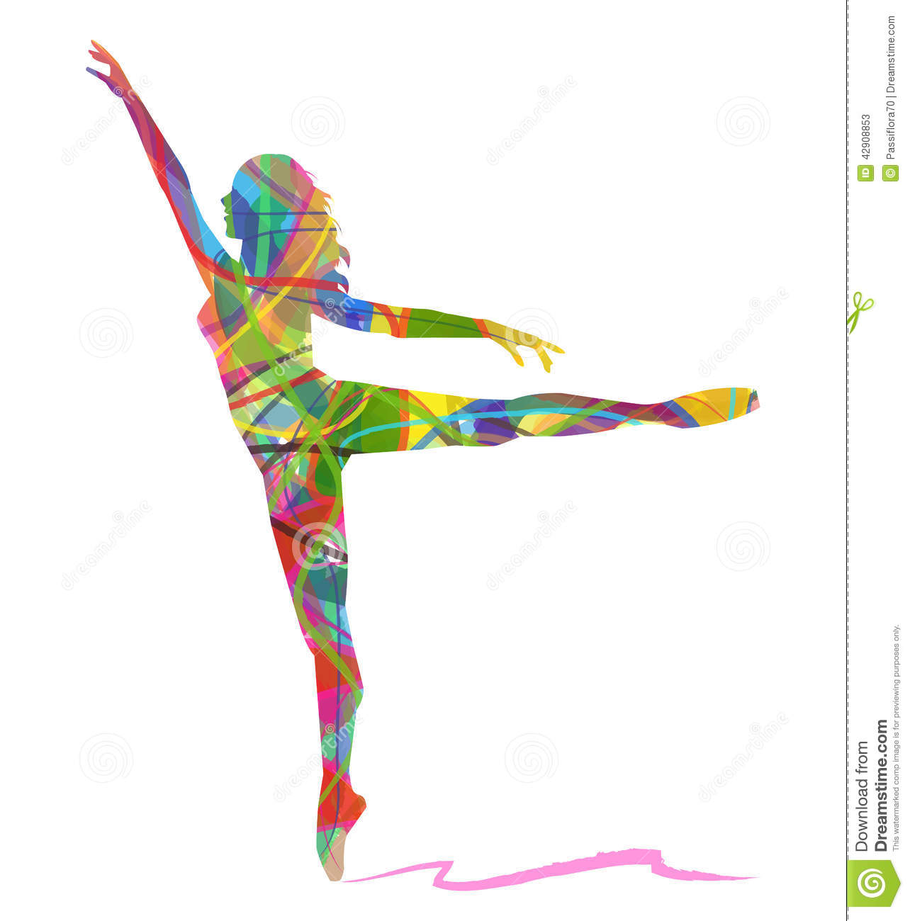 Abstract Painting Of Girl Dancing Dancing Girl Abstract Vector Background Vector