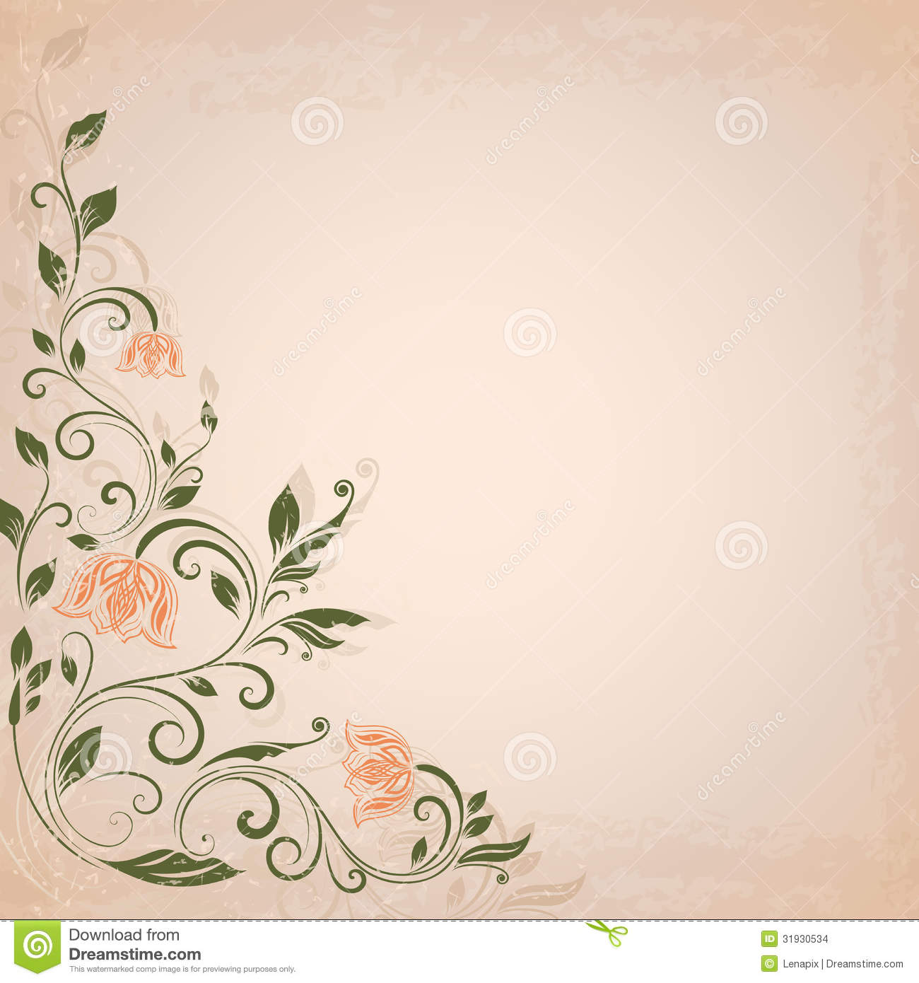 Abstract background flower vintage