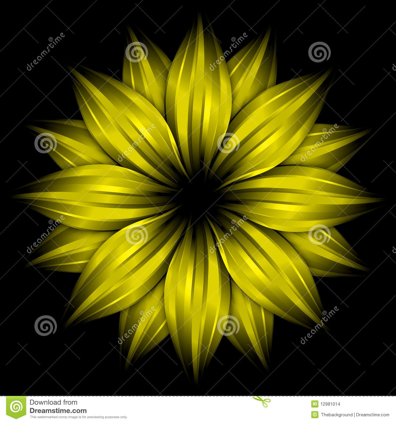 Sunflower Iphone Wallpaper Abstract Yellow Flower On Black Background Stock Images