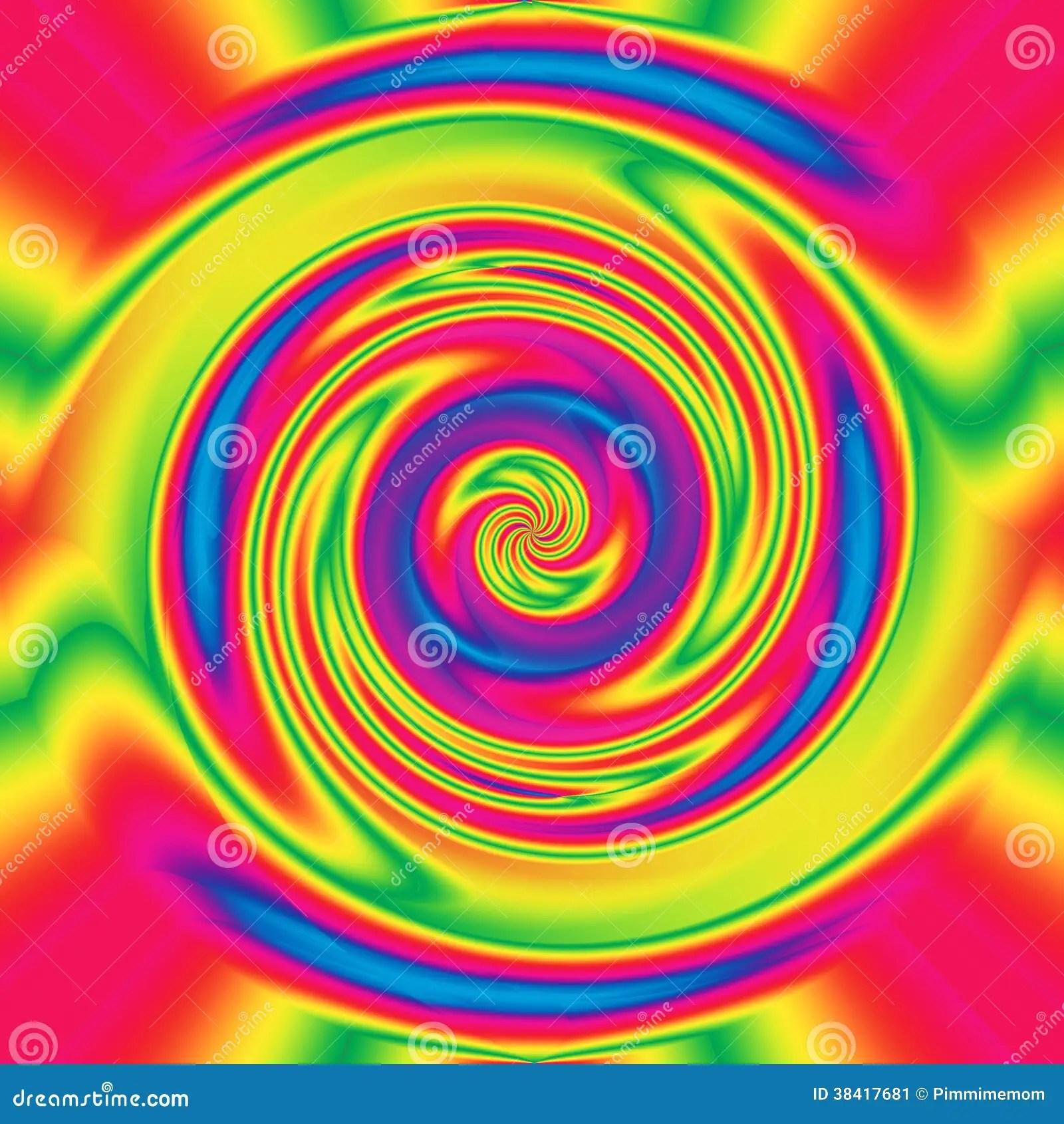 Trippy Animated Wallpapers Abstracte Hypnotiserende Draai Stock Illustratie