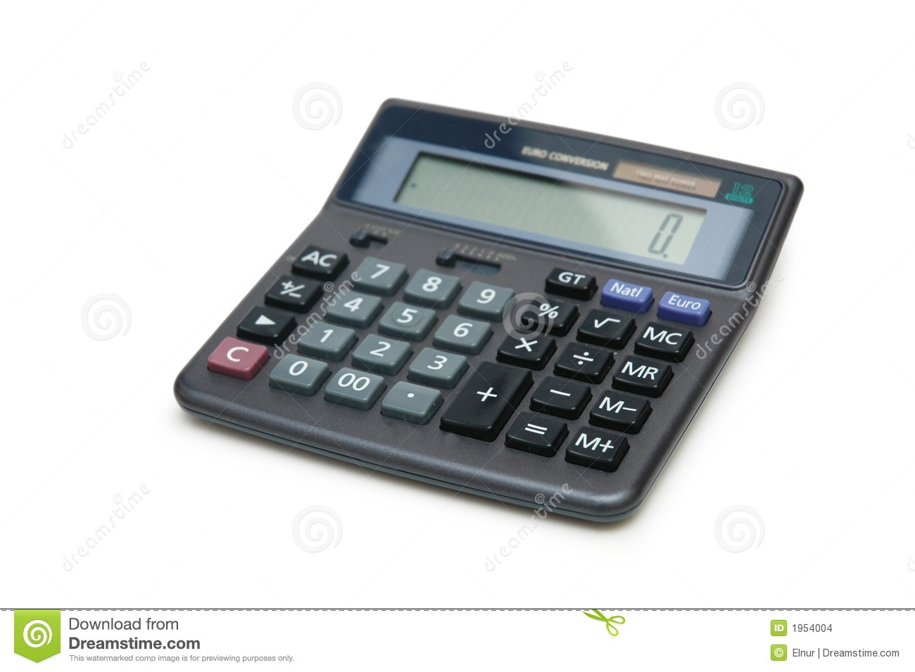 Accountant Bookkeeping Accounting Calculator Isolated Stock Photo - Image: 1954004