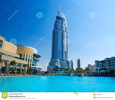 Address Hotel And Lake Burj Khalifa Royalty Free Stock Photo - Image: 23228565
