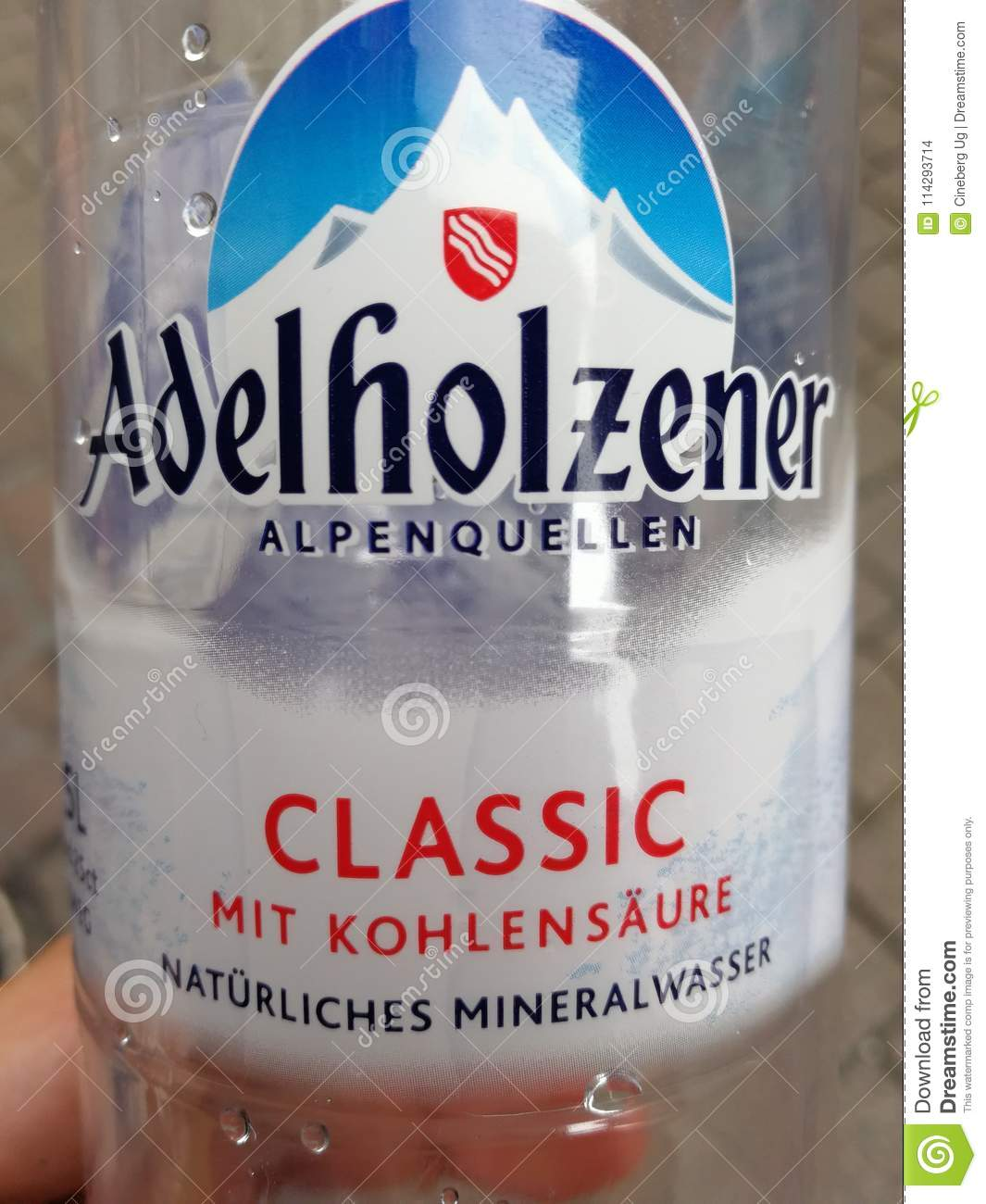 Bad Mannheim Adelholzener Bottled Water Editorial Stock Image Image Of