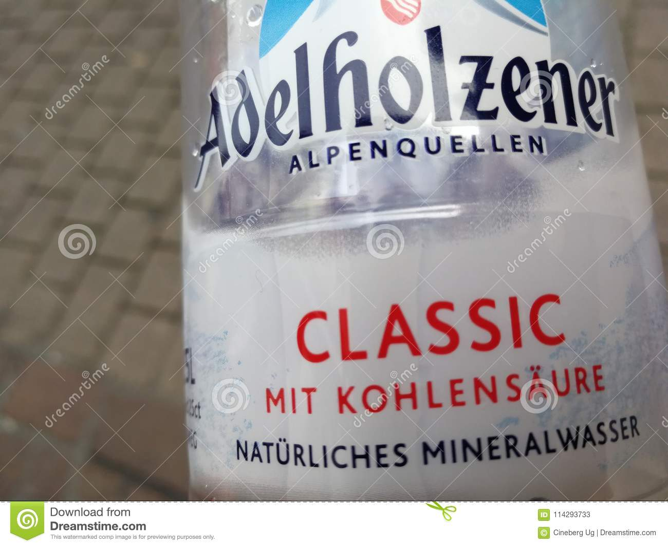 Bad Mannheim Adelholzener Bottled Water Editorial Stock Photo Image Of Drink