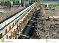 Wall Forms / Molds For Concrete Royalty-Free Stock Image ...