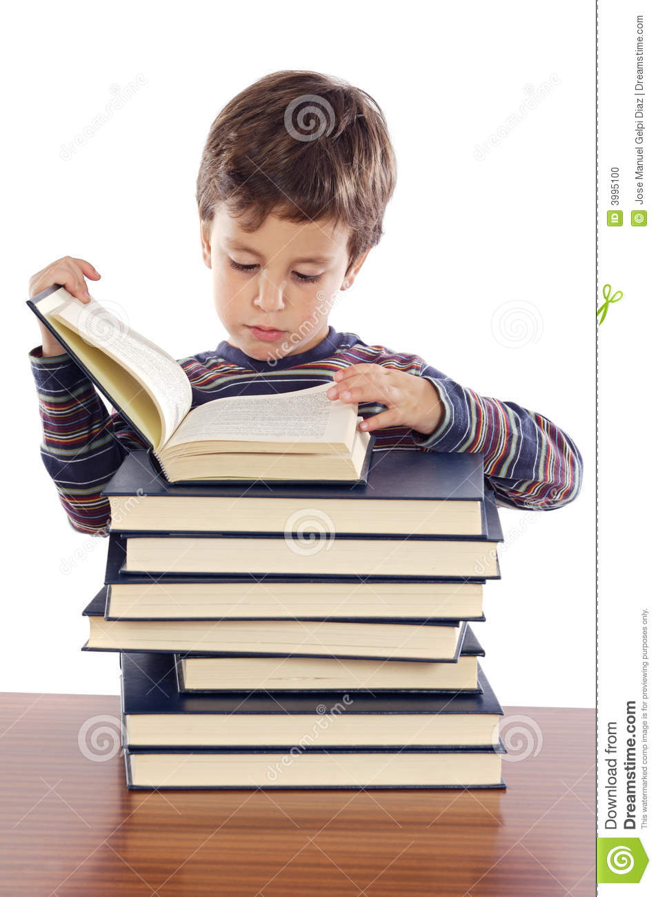 3d Baby Girl Wallpaper Adorable Child Studying Stock Photo Image 3995100