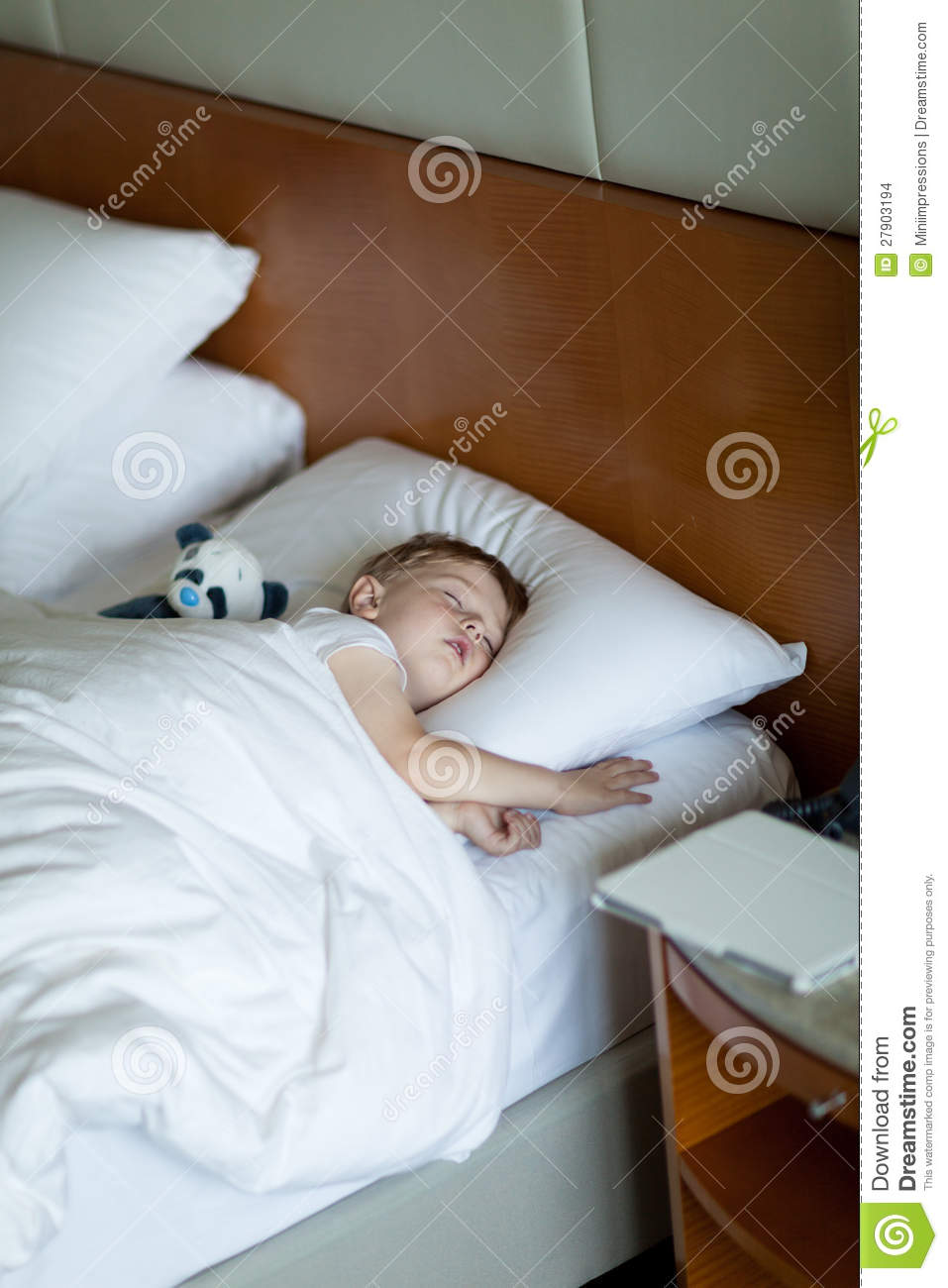 Baby Relax Toddler Bed Adorbale Toddler Sleeping In Hotel Room Stock Photo
