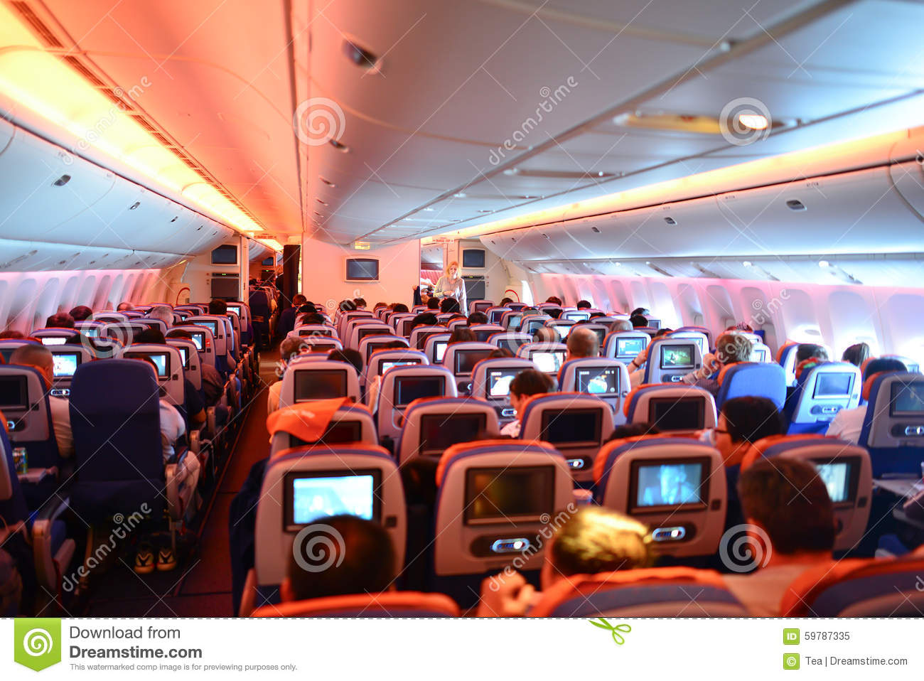 777 Interieur Aeroflot Boeing 777 Interior Editorial Image Image Of Civil