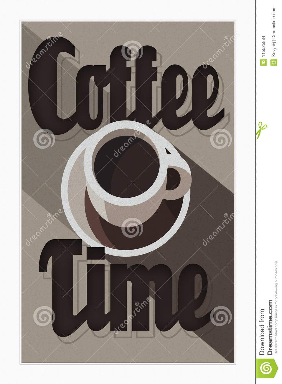 Affiche Deco Cuisine Affiche Art Deco De Temps De Café Illustration Stock