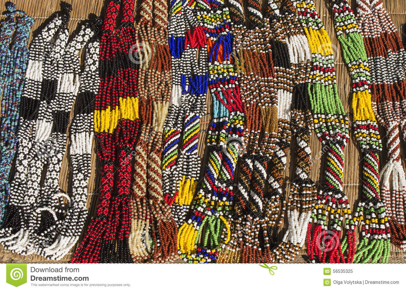 African Ethnic Handmade Beads Necklaces Local Craft