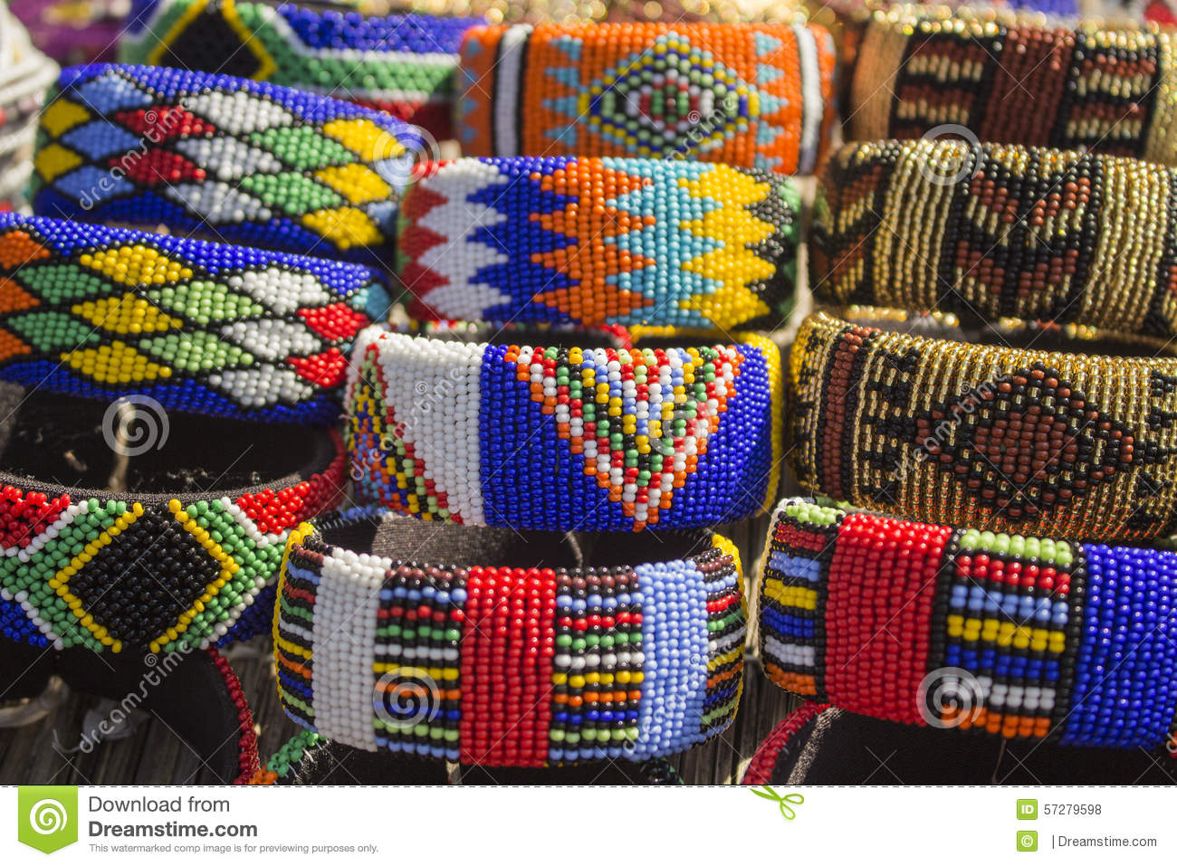 African Traditional Handmade Colorful Beads Bracelets