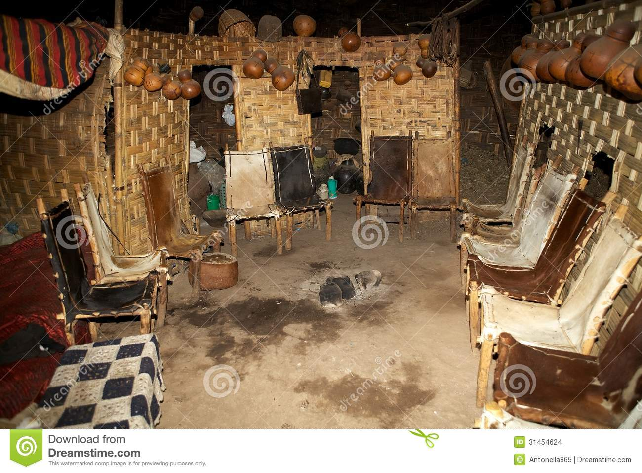 Arte De Mexico Beds African Tribal Hut Editorial Stock Image Image Of