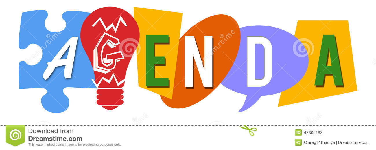 Agenda Various Colorful Shapes Stock Illustration - Illustration of
