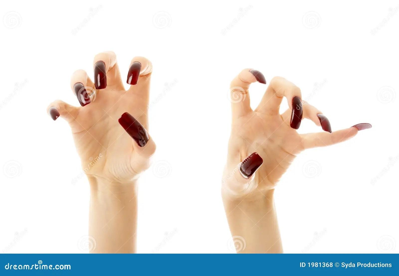 Cute Nail Arts Wallpaper Aggressive Hands With Long Nails Royalty Free Stock Photos
