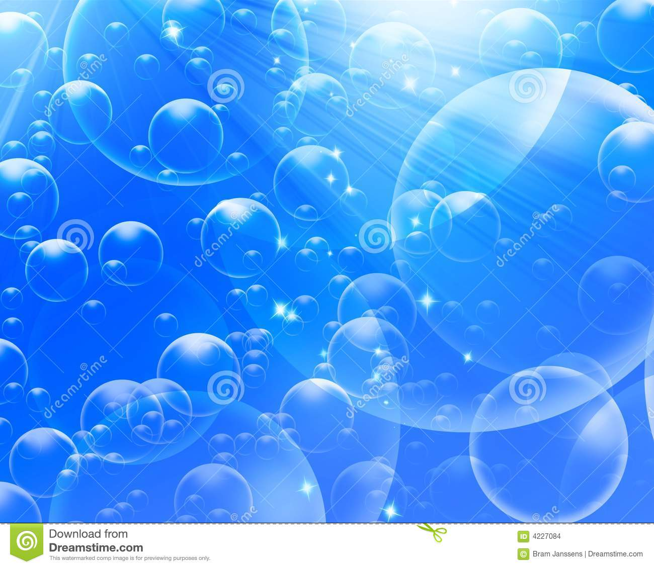 Ocean 3d Dynamic Wallpaper Air Bubbles On A Light Blue Background Stock Illustration