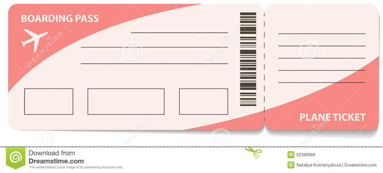 Plane Ticket Template – Plane Ticket Template